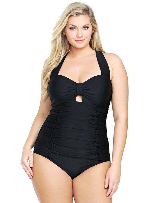 1d15a46882c Torrid Plus Size Peek-A-Boo One-Piece Swimsuit