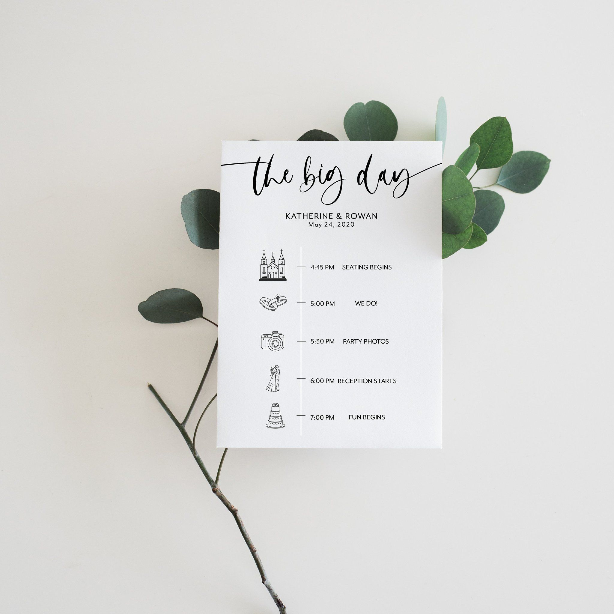 Printable Wedding Itinerary Template Card Timeline Minimalist Welcome 100 Editable Tem Wedding Itinerary Wedding Itinerary Template Wedding Checklist Template