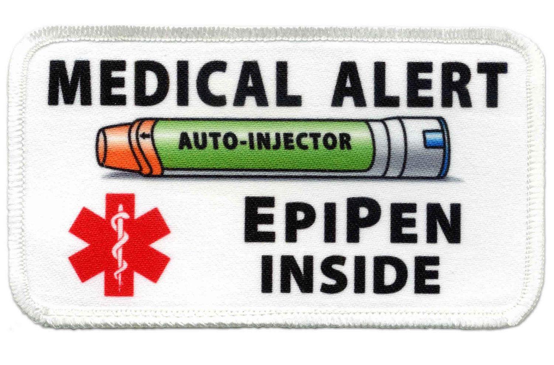 epipen jr auto injector inside medical alert food allergy warning patch 4 50 via etsy  [ 1500 x 991 Pixel ]