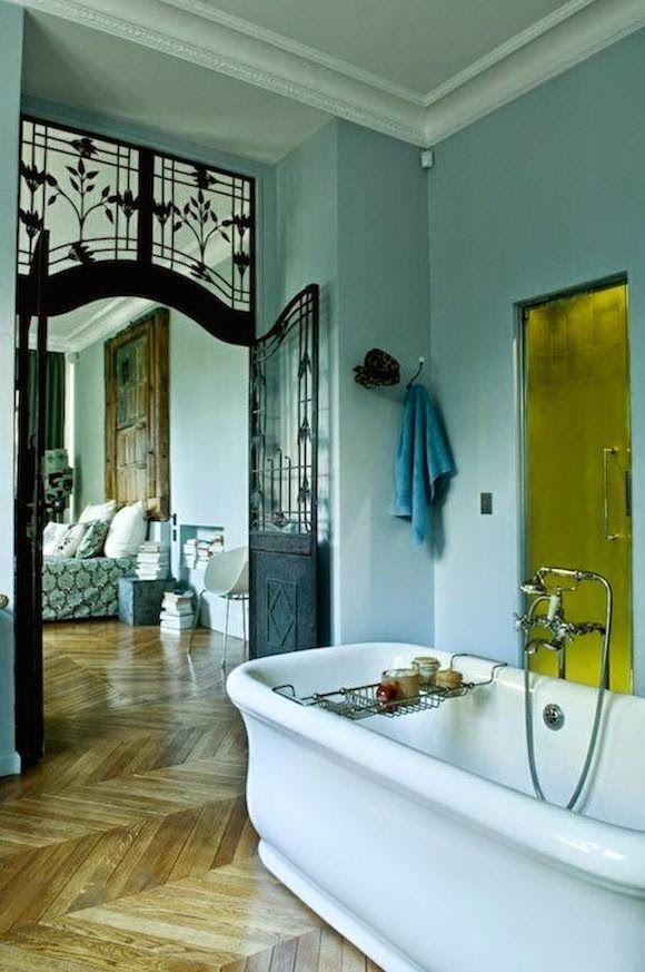la maison boheme: home tour | mint blue paris apartment | adroit