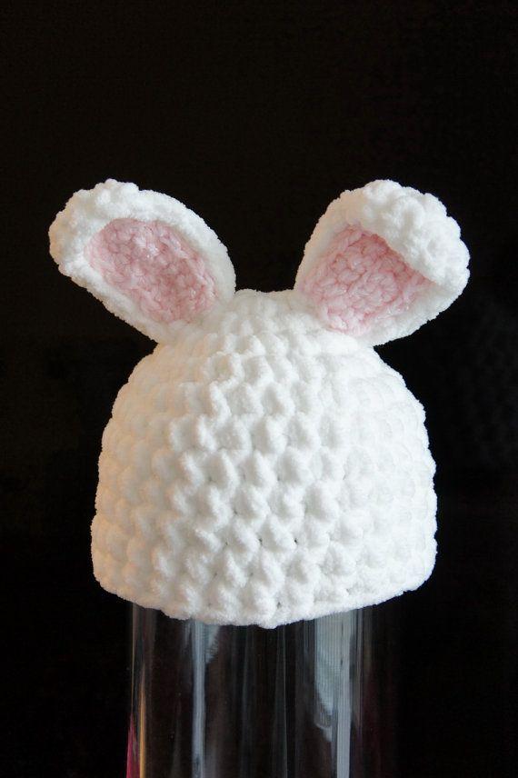 Bunny Rabbit Hat...etsy. (so cute with a chunky yarn) | crochet ...