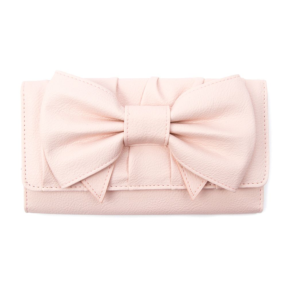 923952ffe210 Pebbled Faux Leather Wallet with Bow | Icing | Playful Winter: The ...