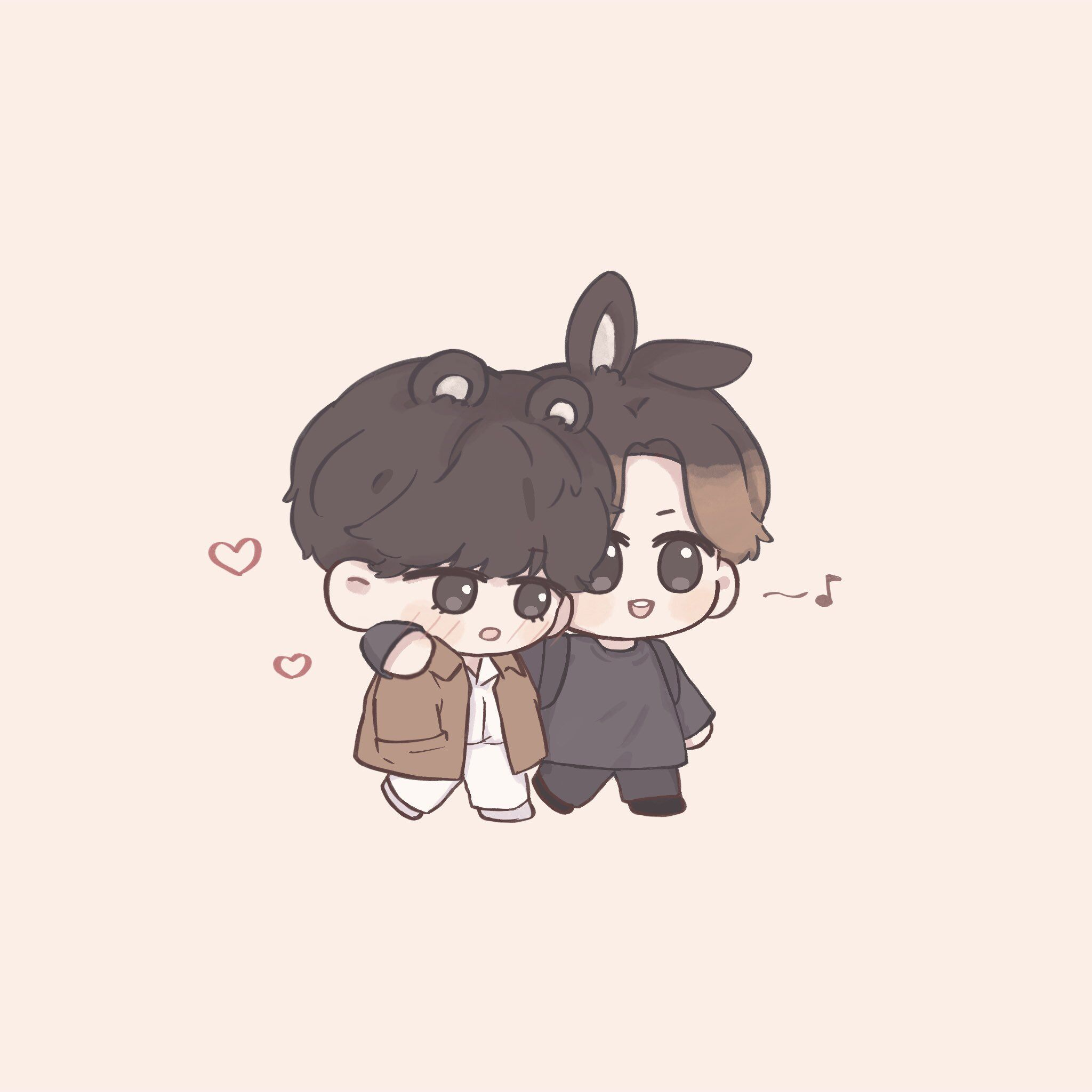 Wanz ʕ ʔ On Twitter Cute Cartoon Wallpapers Bts Chibi Vkook Fanart