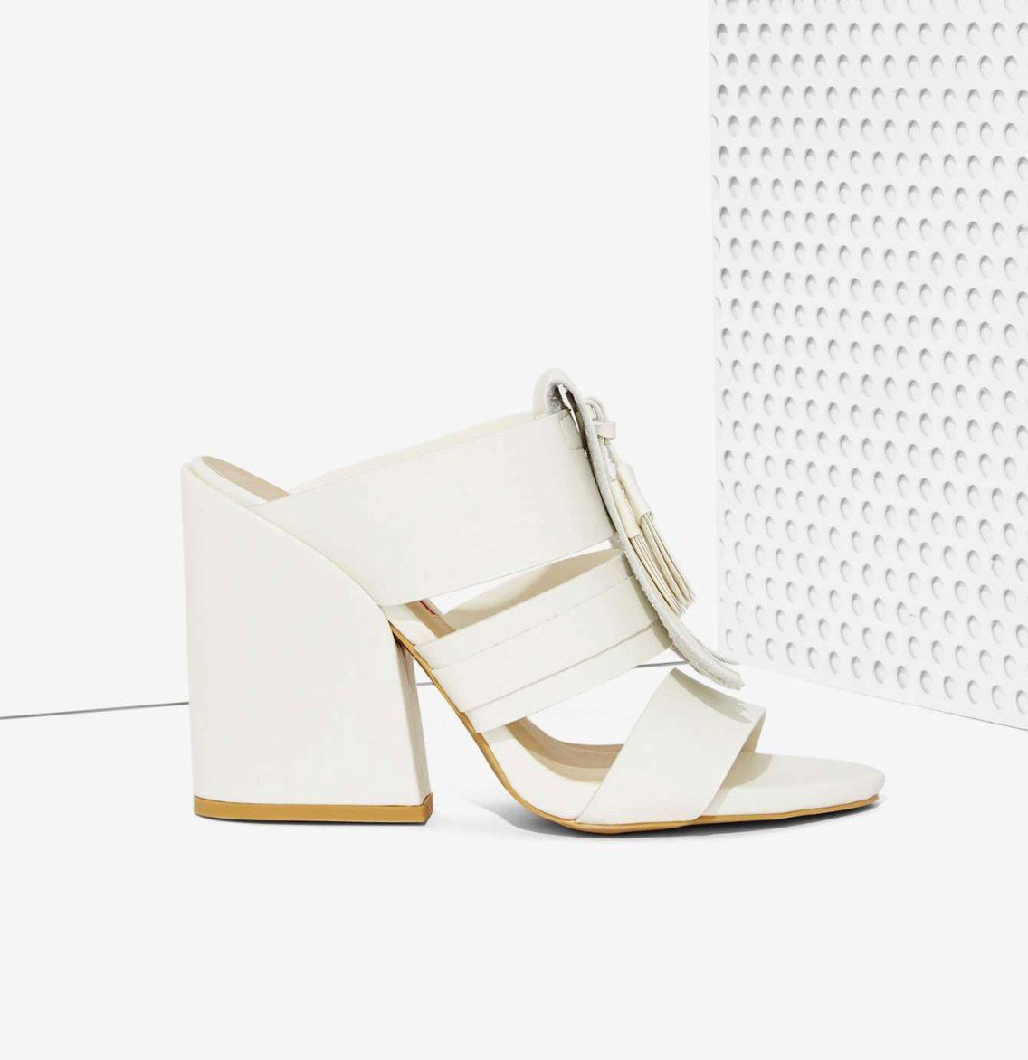 Editor's Pick: The Coolest White Fringed Mules For Under70