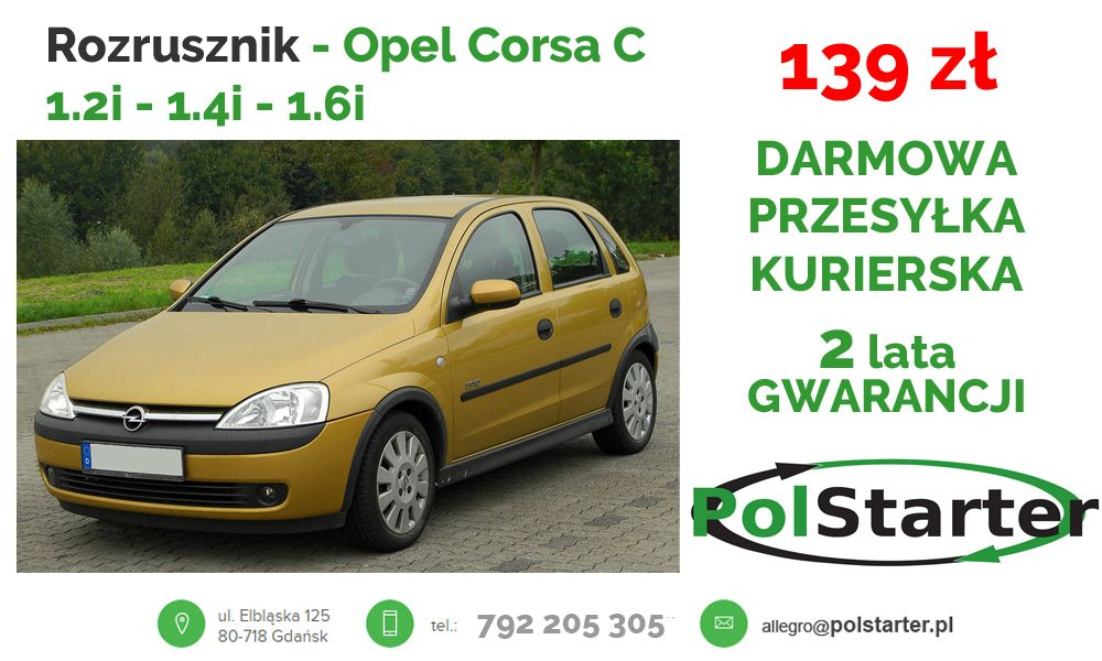 Rozrusznik Opel Corsa B Vectra B C Astra G Lanos 6839030100 Oficjalne Archiwum Allegro Alternator Car Suv Car