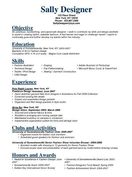 Fashion Model Resume Sample Get Free Resume Templates Job Resume Samples Job Resume Resume Templates