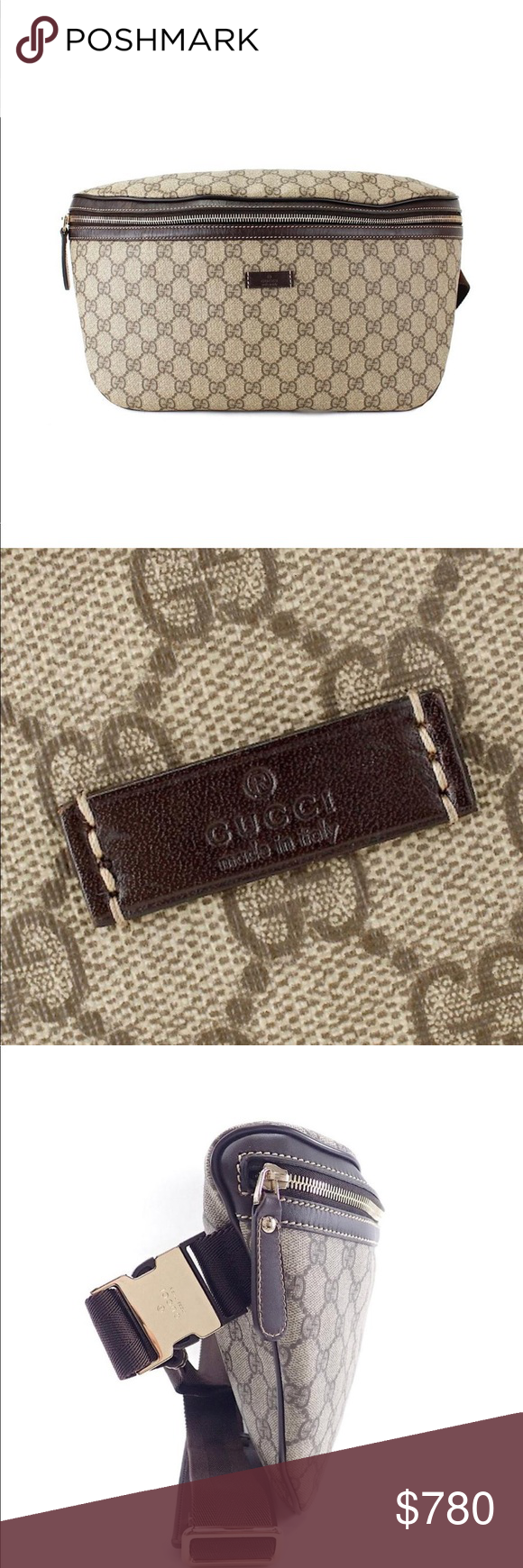 733d1f25f60df Authentic Gucci Monogram GG Belt Bag Waist Pouch Authentic Gucci Monogram  GG Belt Bag Large Sized Version Made in Italy Monogram GG Canvas
