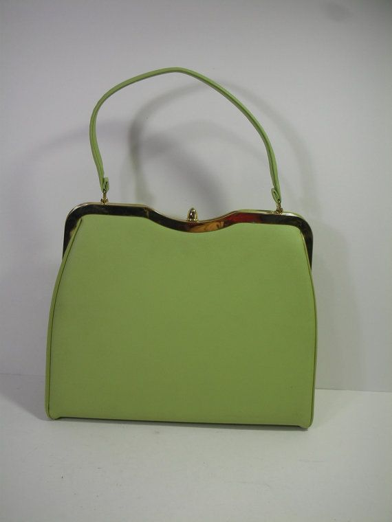 1960s Pale Green Purse Vintage Light Lime Frame Handbag Fashion Accessories Pinterest And Limes