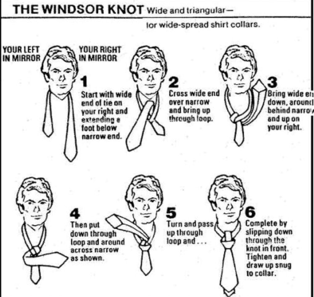 how to tie a windsor knot step by slowly