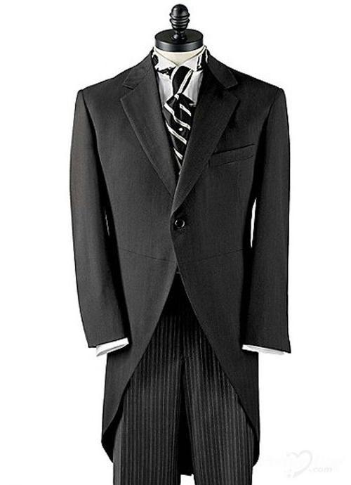long tail black tuxedo with white trim | Tuxedos | Custom Tuxedos ...