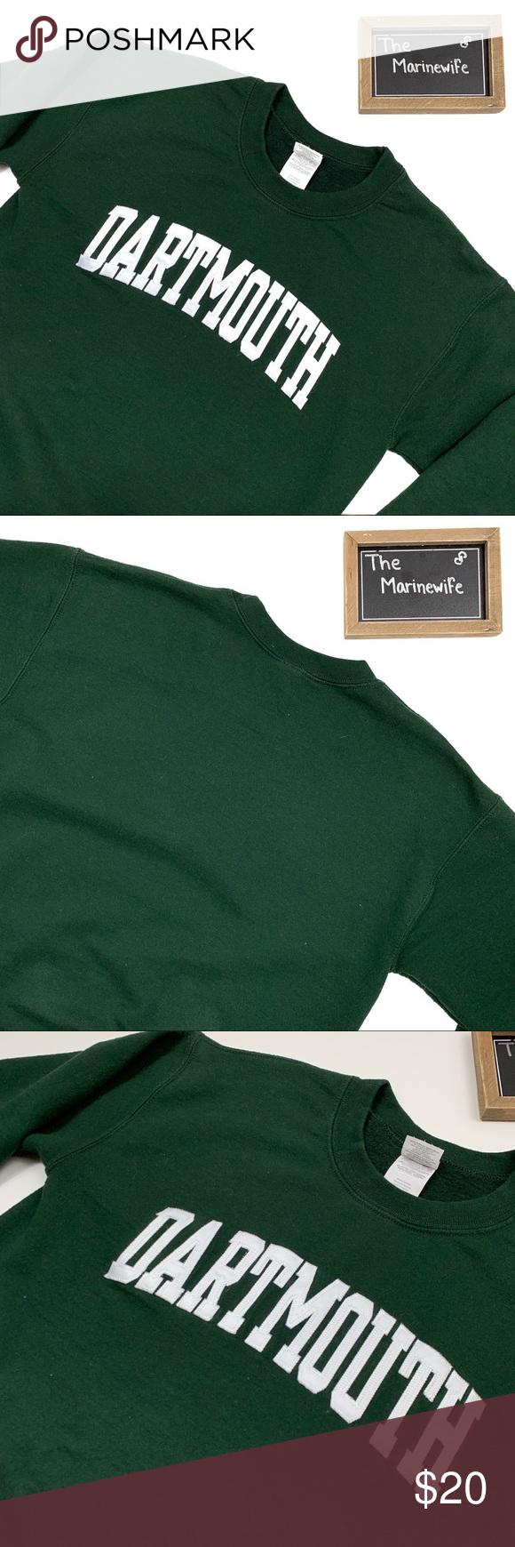Dartmouth College Dark Green Crewneck Sweater Crew Neck Sweater College Sweater Long Sleeve Sweater [ 1740 x 580 Pixel ]