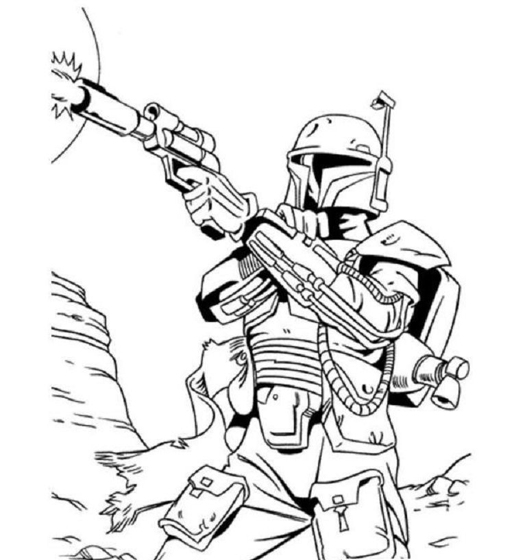 star wars bounty hunter coloring pages | Coloring pages ...