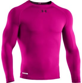 3b36137d Under Armour Men's Power In Pink HeatGear Sonic Compression Long Sleeve  Shirt - Dick's Sporting Goods