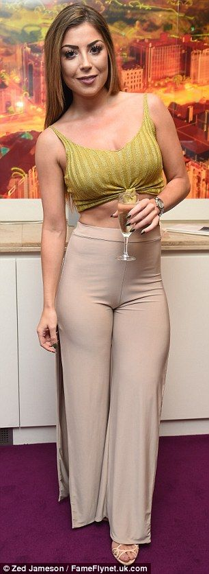 Party girl: Abi enjoyed mingling with the likes of Olivia Buckland, Tina Stinnes…
