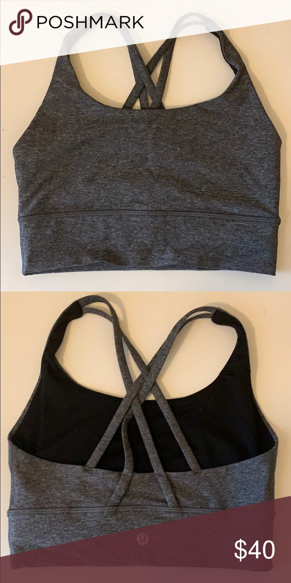 1996c0548d6e Lululemon sports bra Grey heather material lululemon athletica Intimates & Sleepwear  Bras