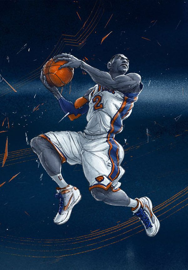 Slam Dunk History On Behance Basketball Art Nba Art Slam Dunk