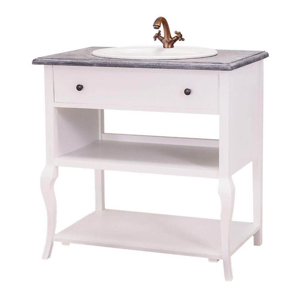 Kleiner Waschtisch Mit Geschwungenen Beinen, Romantische Badezimmermöbel,  Landhausstil, Einrichten, Nostalgische Möbel