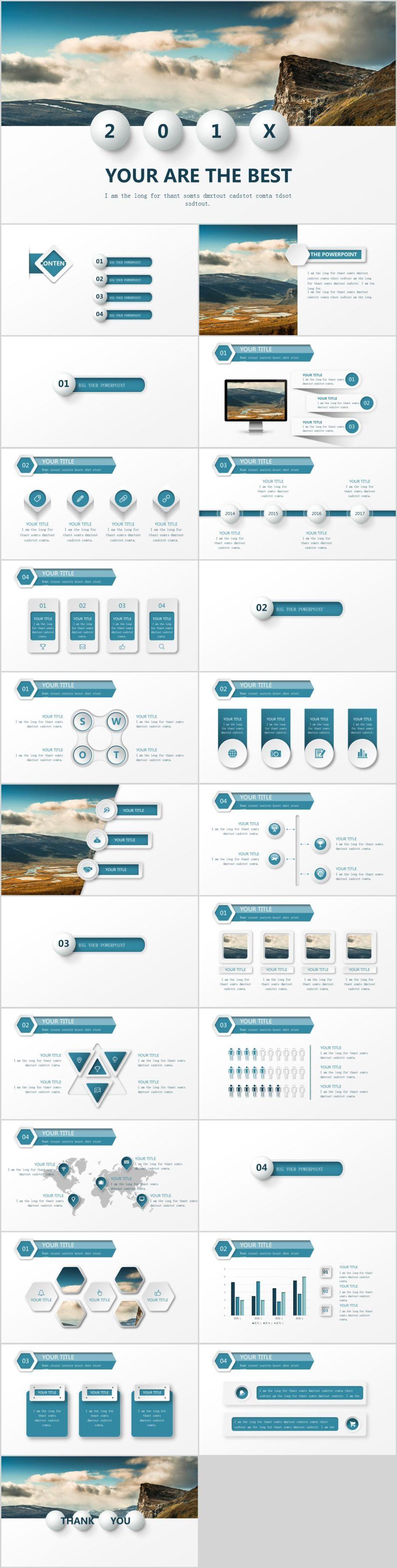 24 Best Blue Annnual Report Powerpoint Templates Template