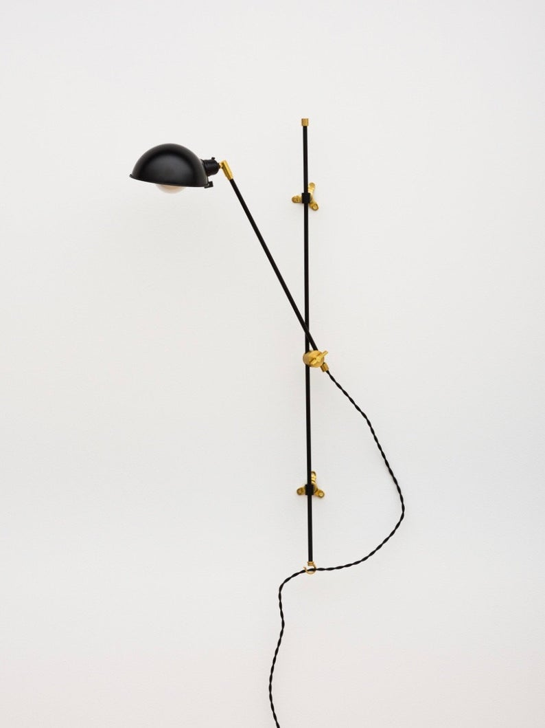 The Black Pole Sconce Articulating Plug In Wall Light Wall Sconce Mid Century Modern Sconce Plug In Wall Lights Mid Century Modern Sconces Modern Sconces