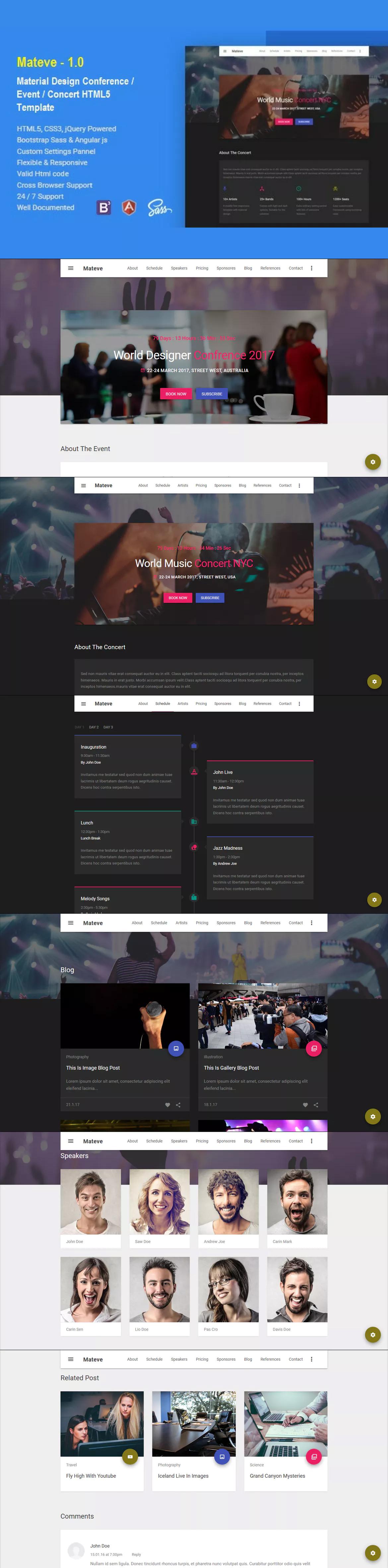Mateve Event / Conference / Concert HTML Template   HTML Website ...