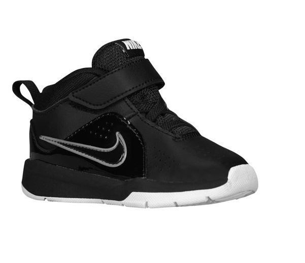 3033b6e0b46d11 NIKE TEAM HUSTLE D6 TD Black Black White 599189 001 Infant Baby  NIKE   Athletic