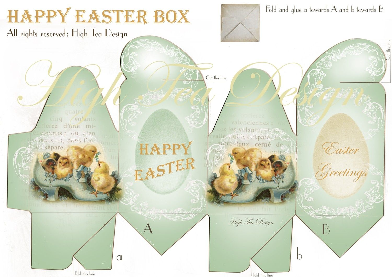 Image detail for wonderful happy easter box vintage style image detail for wonderful happy easter box vintage style template holiday negle Choice Image