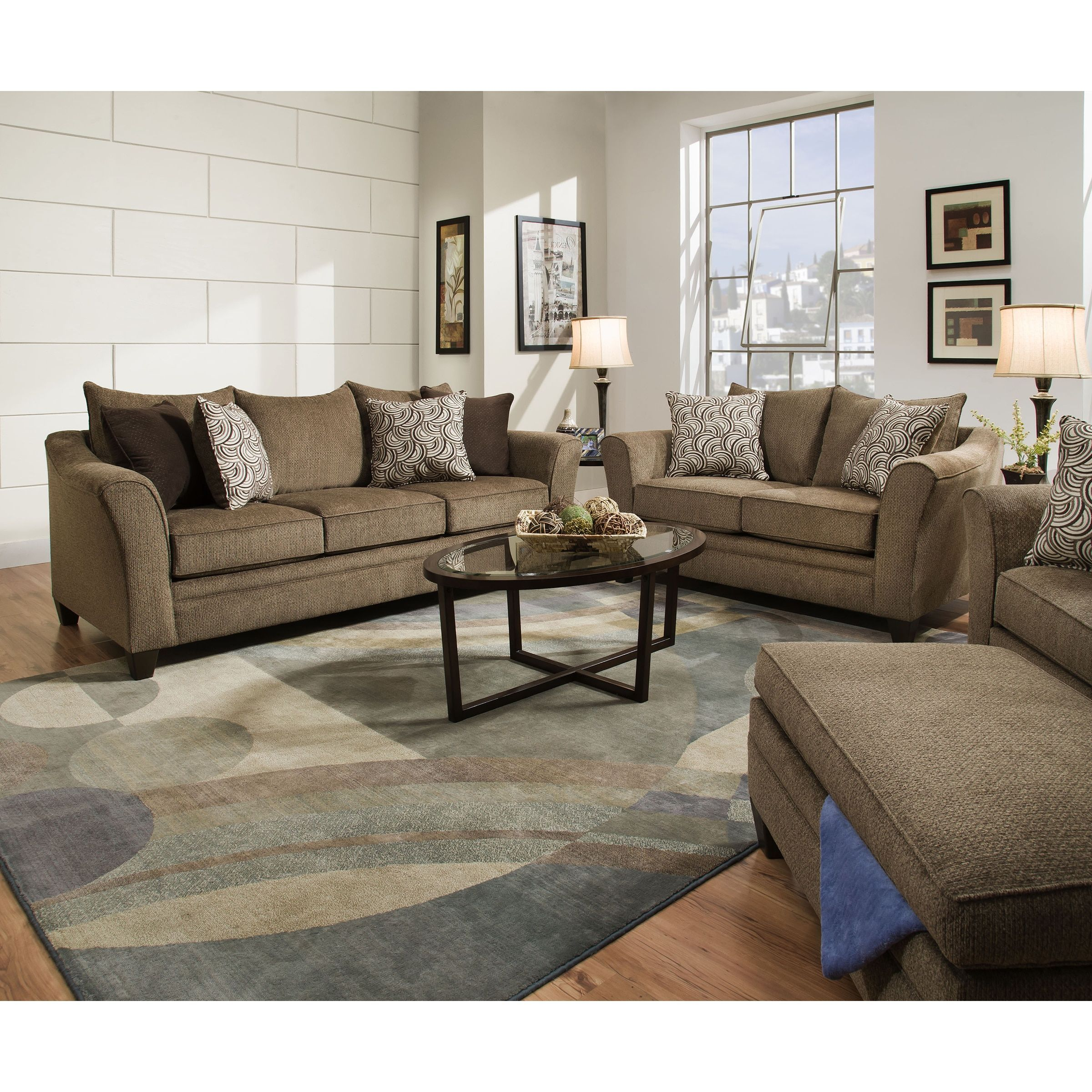 Simmons upholstery albany truffle queen sleeper sofa sleeper sofa tan fabric