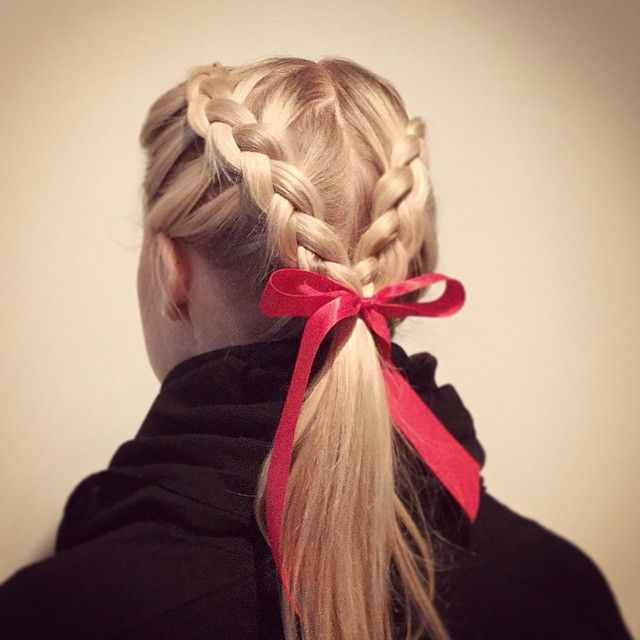 hair style for summer braid to fit my horseback helmet 3122