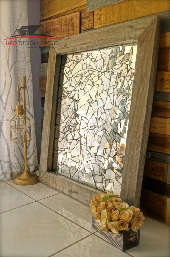 Custom order on mirror mosaic wall decor by LMODesignGroup on Etsy - broken design holzmobel