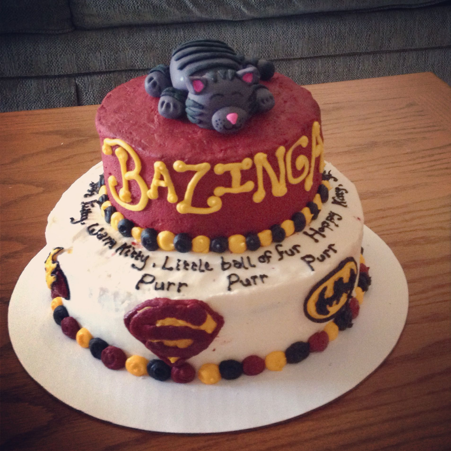 Big bang theory cake ideas
