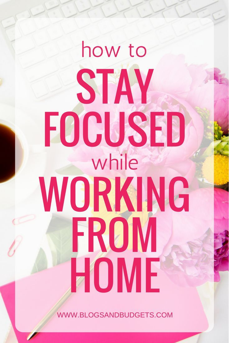 Do you work from home? Don't lose focus! Here are my tips on how to stay focused while working from home.