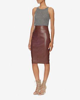 38d44cfefc Bailey 44 EXCLUSIVE Faux Leather Pencil Skirt: Wine | Fashion | Faux ...