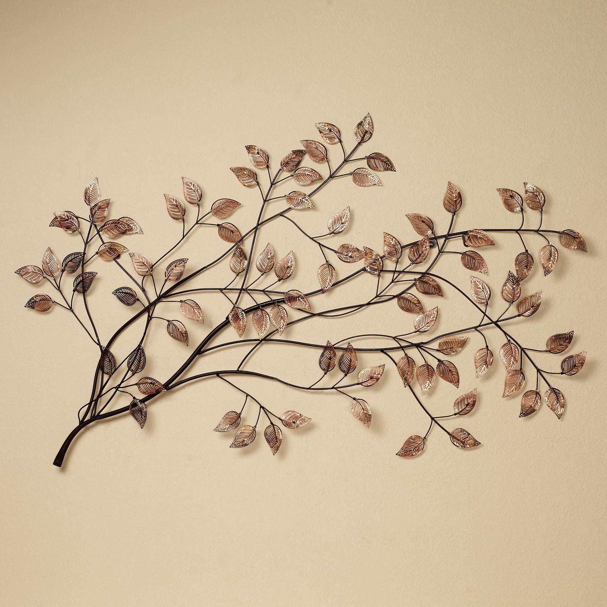 branches at sunrise leaf metal wall sculpture metal tree on metal wall art id=30533