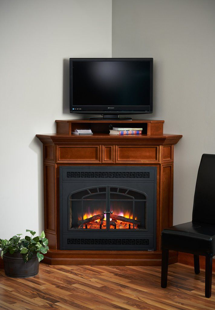 Alder Wood Built-in Fireplace Surround Cabinet TV Stand | Stuff to ...