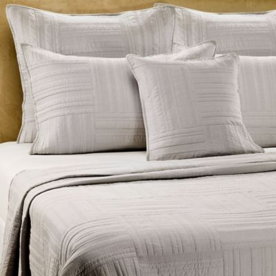 Barbara Barry Eternity Quilt In Oyster Pillow Shams Euro Pillow Shams Barbara Barry