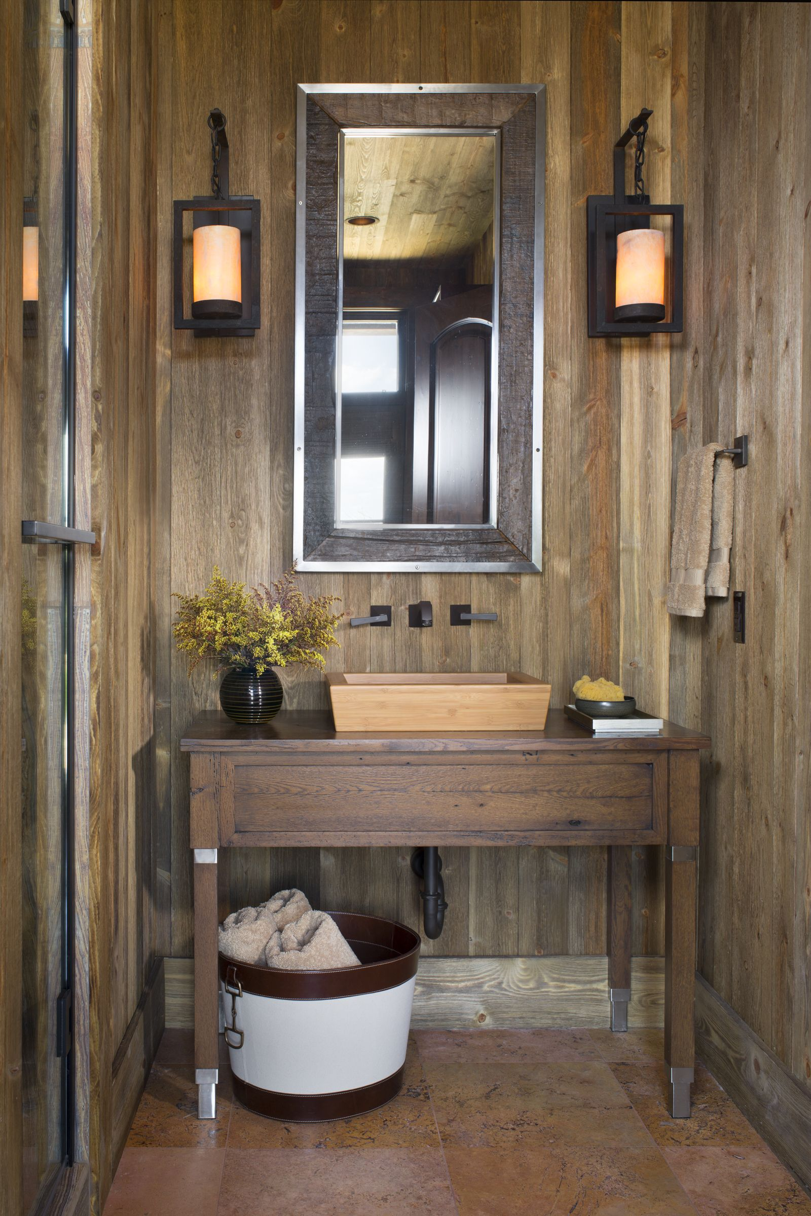 Merveilleux Powder Bath By Design House   Houston, TX. Wood Panel Walls, Wood And