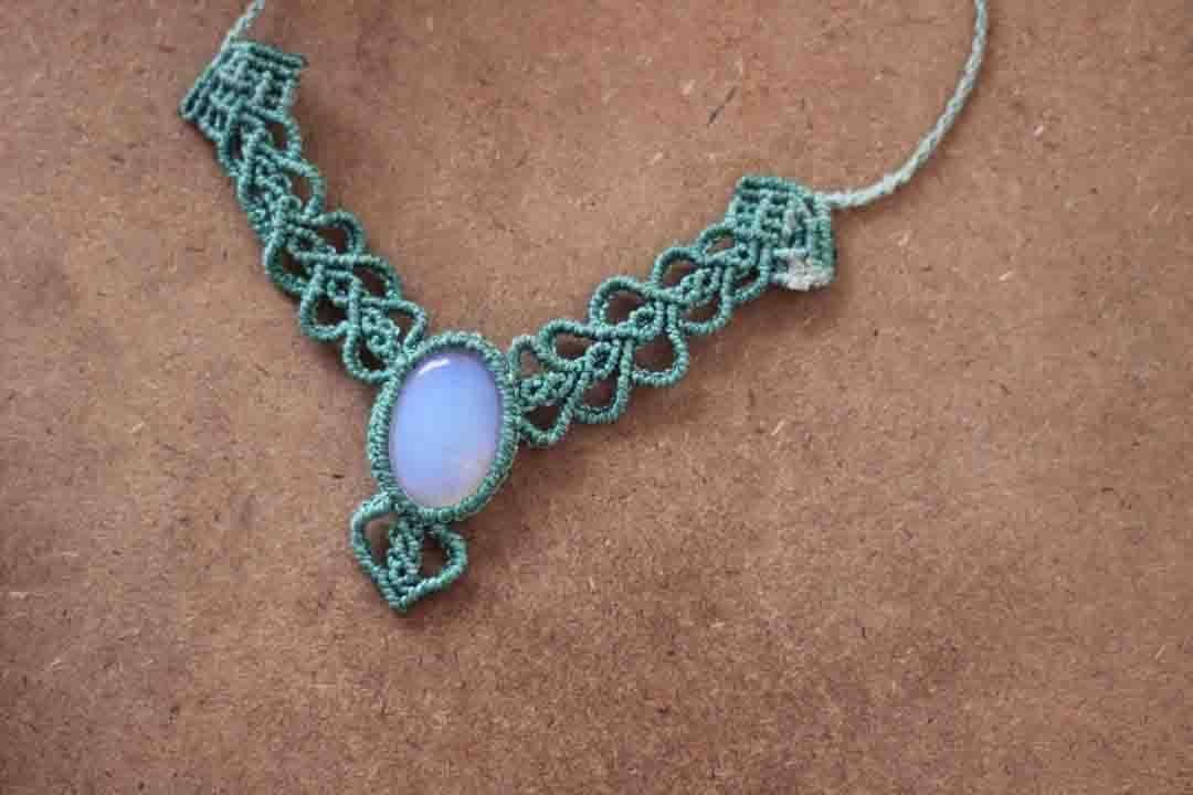 tutoriales macrame hilo encerado collares con piedra