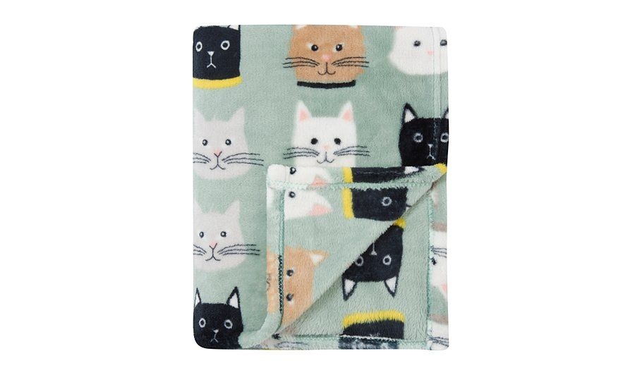 George Home Cat Print Super Soft Plush Throw Read Reviews And Buy