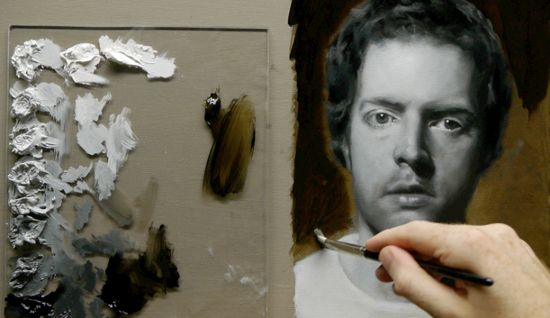 Black and white portraits in oil need to do this