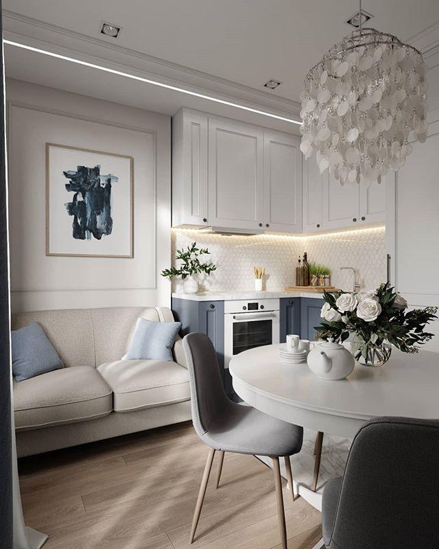 Мини кухня-гостиная в Москве площадью 11 кв.м. 👌 Как Вам ...