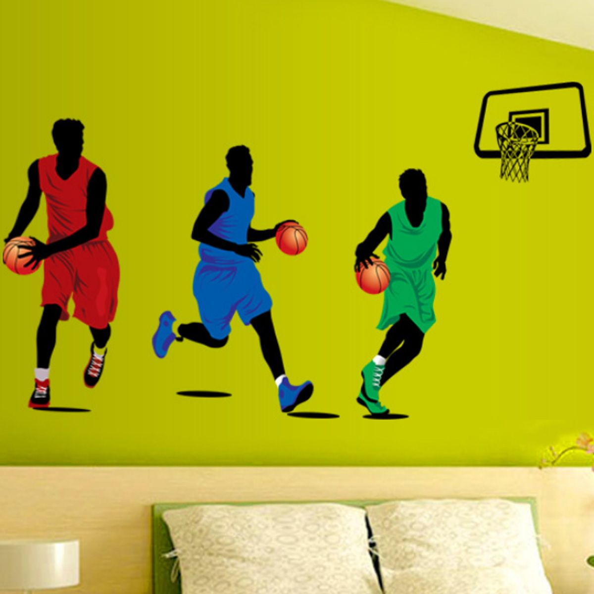 Malerisch Wandtattoo Basketball Foto Von Playing Sports Wall Decal Removable Home Room