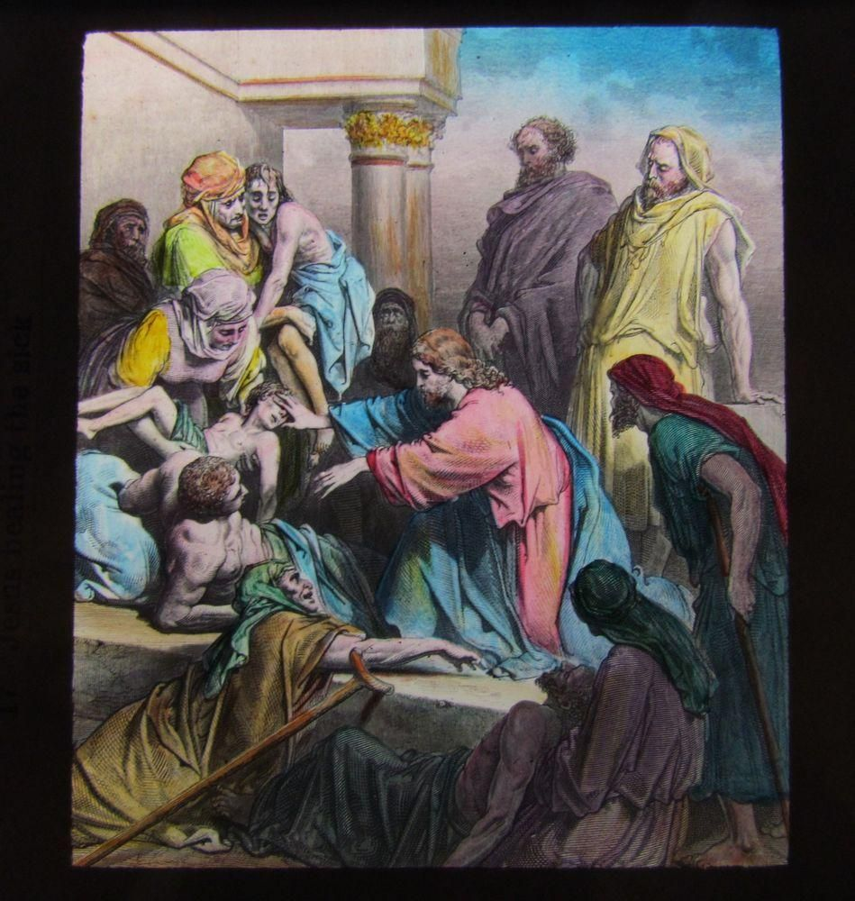 Glass Magic Lantern Slide JESUS HEALING THE SICK C1910 CHRISTIAN RELIGION http://unbelievable-nice-item.newoffers.info/buy/01/?query=111779400016 …
