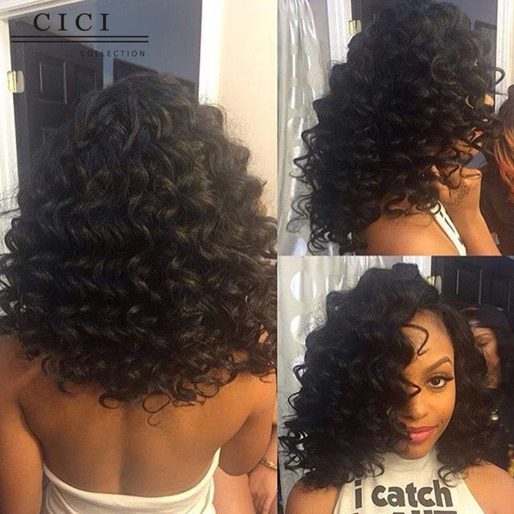 Cici Collection New Design Short Wet And Wavy Lace Front Wigs For