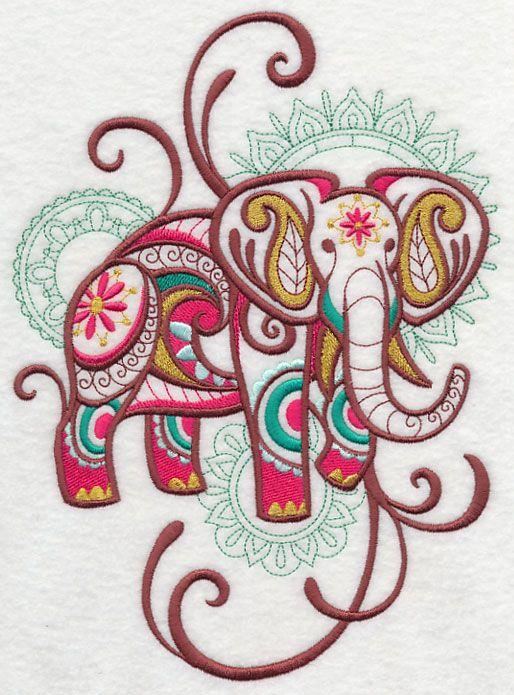 Mehndi Elephant Spray Embroidery Designs Pinterest Mehndi