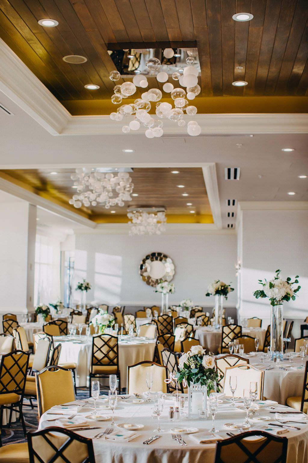 Elegant pastel winter wedding beach wedding reception