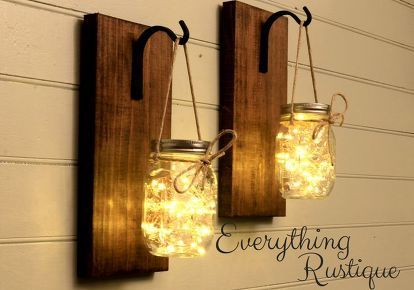 Diy Mason Jar Sconce Decor Lights Projects Mason Jar