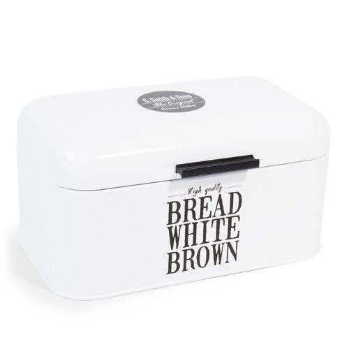 boîte à pain en métal blanche wallace | rangement et déco