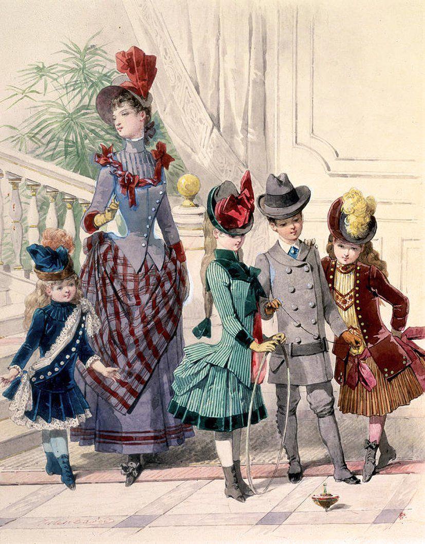 JULES DAVID (FRENCH, 1808 1892) Модницы, Эдвардианская