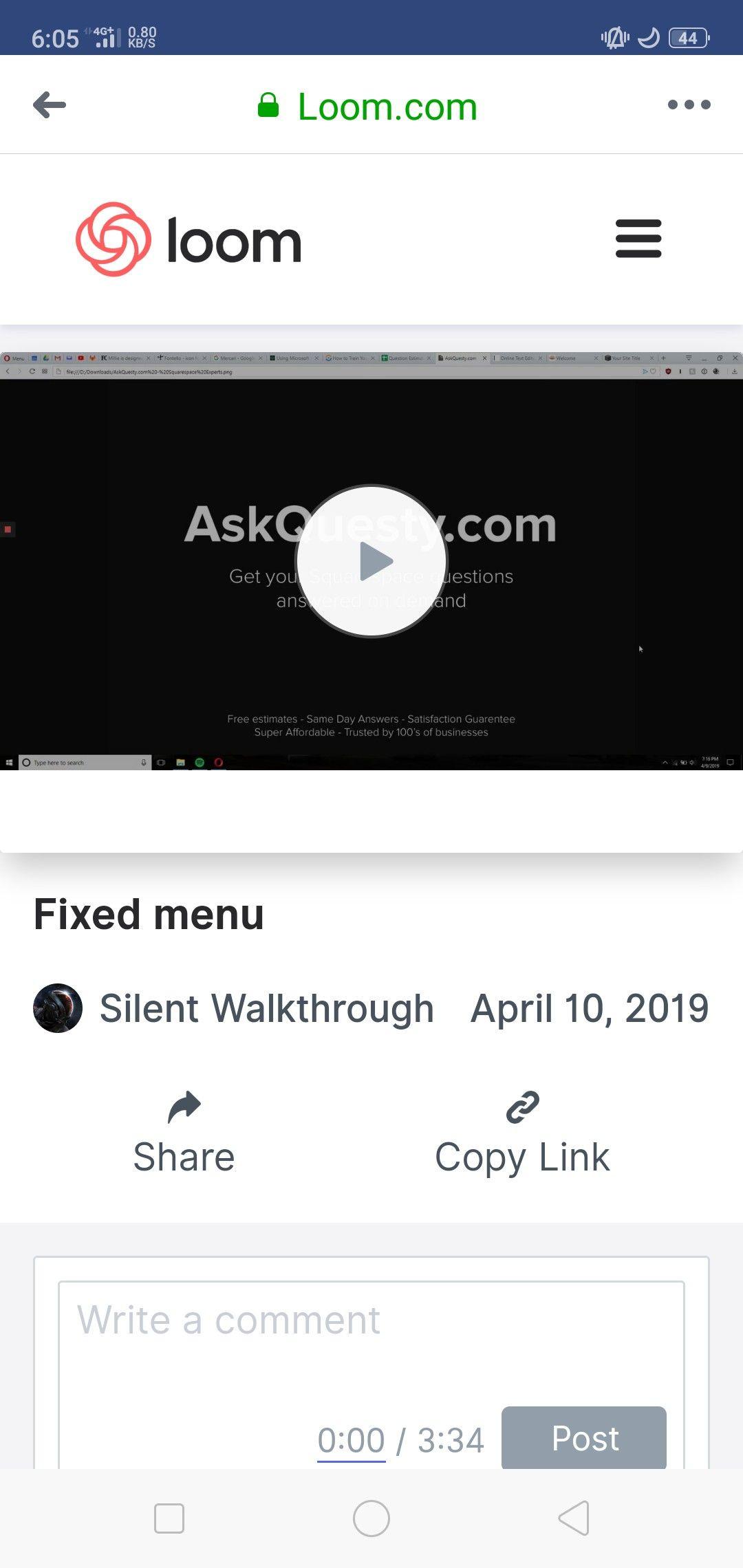 Fixed menu Fixed menu, Menu, Screen recorder
