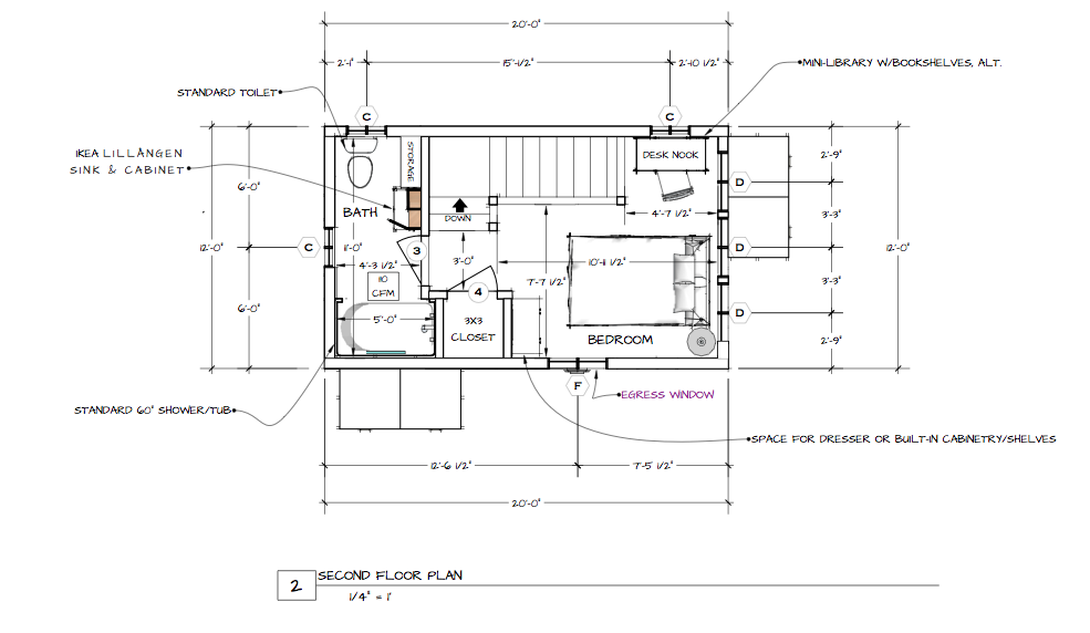 Shawn dehner over at the small house catalog released this for Backyard cottage floor plans